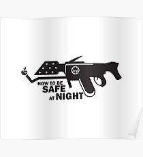Shroudworks How To Be Safe At Night Black Poster