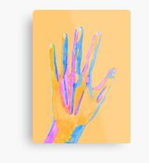 Colorful Watercolor Hand Metal Print