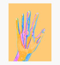 Colorful Watercolor Hand Photographic Print