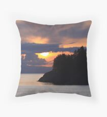 Island On Sunset Throw Pillow