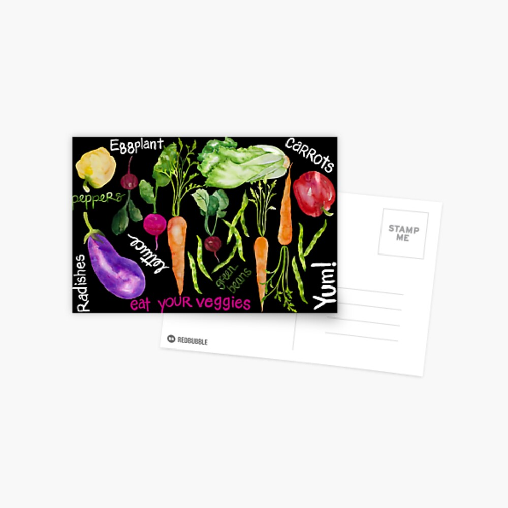 Eat Your Veggies Postcard