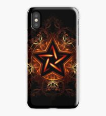 Mystical fiery star ( Wiccan Fire Pentagram ) iPhone Case/Skin