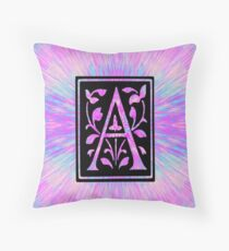 pink letter a initial  Floor Pillow