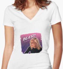 Eileen BEAST? Women's Fitted V-Neck T-Shirt