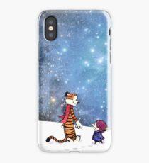 Calvin hobbes Snow White iPhone Case/Skin