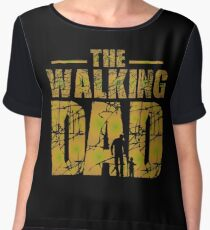 The Walking Dad - Zombie Father's Gift Women's Chiffon Top