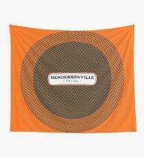 Hendersonville   Retro Badge Wall Tapestry