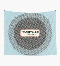 Nashville   Retro Badge Wall Tapestry