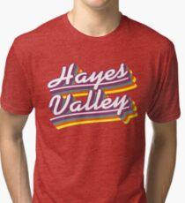 Hayes Valley | Retro Rainbow Tri-blend T-Shirt
