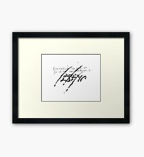 David Foster Wallace Claws Quote Framed Print