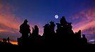 Moon Over Mono Lake.  by Alex Preiss