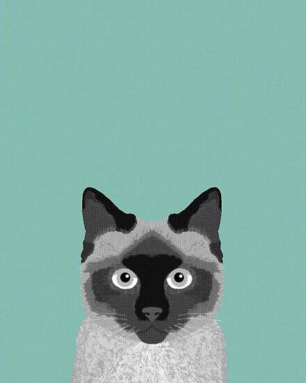 official photos 5adb8 be1f5 'Ezra - Siamese Cat, Cute Kitten Retro Cat Art cell phone case, siamese,  cute cat' Poster by PetFriendly