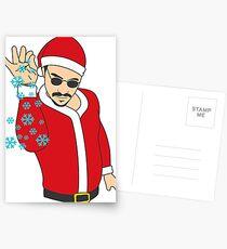 Salt Bae Santa Postcards