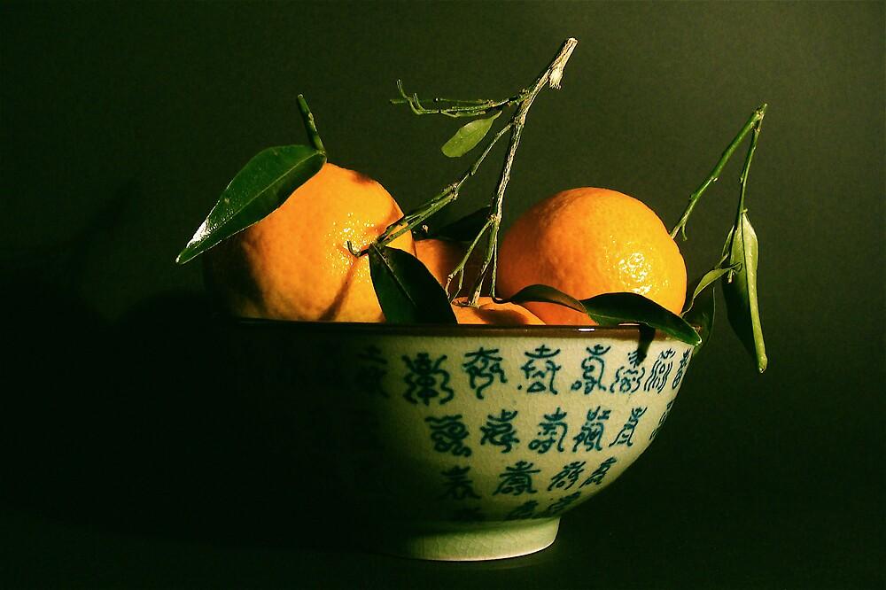 mandarins in the autumn  by anisja
