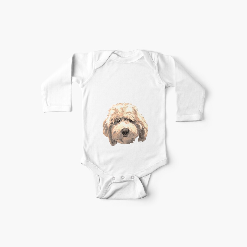 Lucky Labradoodle Face ~ Golden Baby One-Piece