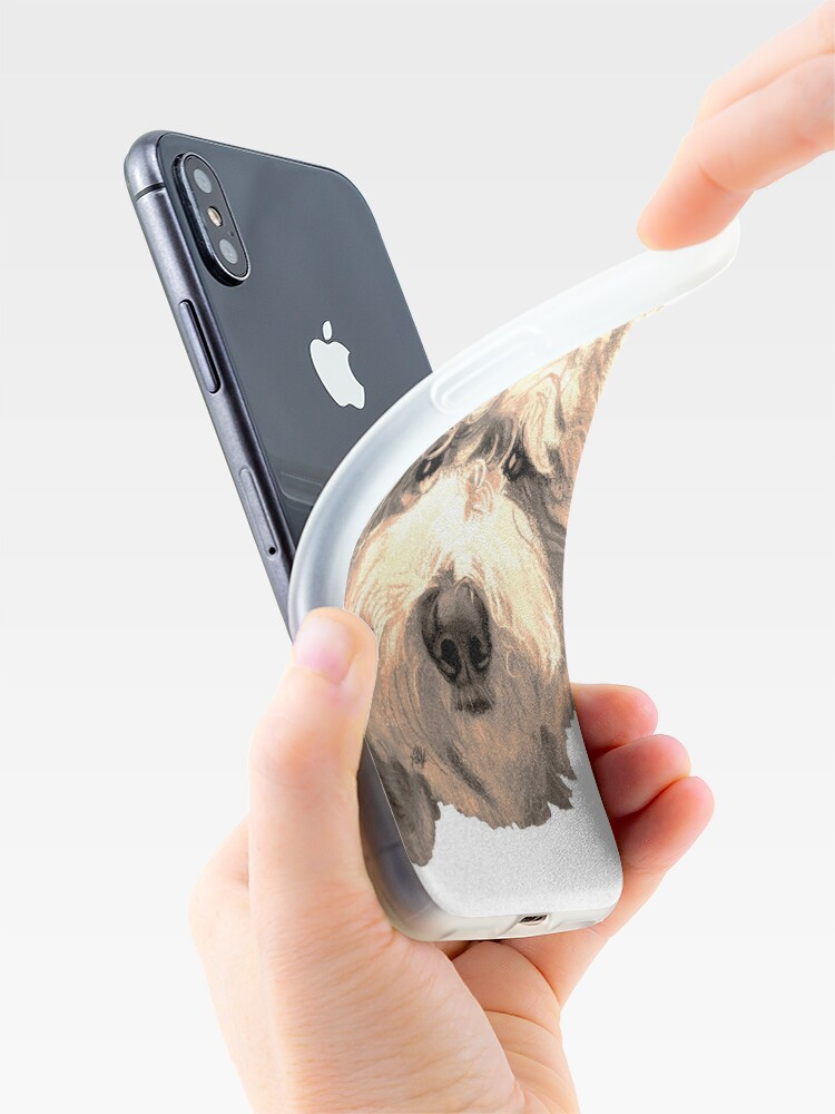 Alternate view of Lucky Labradoodle Face ~ Golden iPhone Case & Cover