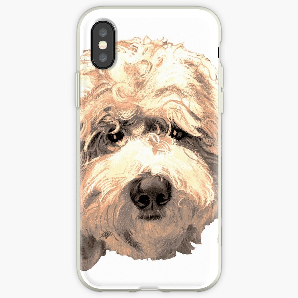 Lucky Labradoodle Face ~ Golden iPhone Case & Cover