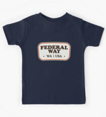 Federal Way | Retro Badge Kids Clothes