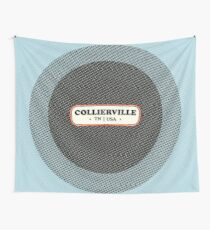 Collierville   Retro Badge Wall Tapestry