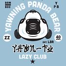 Lazy Club - Yawning Panda Bear by SevenHundred