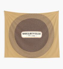 Shelbyville   Retro Badge Wall Tapestry