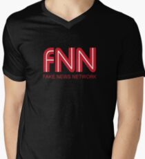 FNN fake news network Funny logo School Student Shirt Men's V-Neck T-Shirt