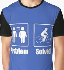 Funny Cyclist Problem Solved Cycologist Bike Rider Graphic T-Shirt