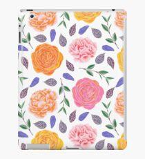 Vinilo o funda para iPad La acuarela anaranjada rosada moderna se va floral