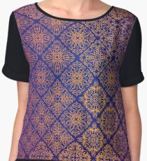 Floral luxury royal antique pattern Women's Chiffon Top
