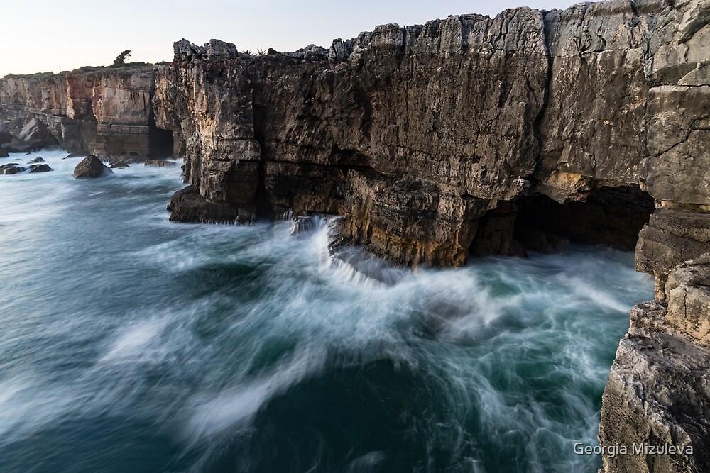 Ocean Rush - Boca Do Inferno and Rough Seas by Georgia Mizuleva