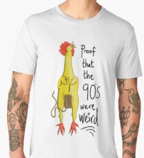 Rubber Chicken with a Pulley in the middle Men's Premium T-Shirt
