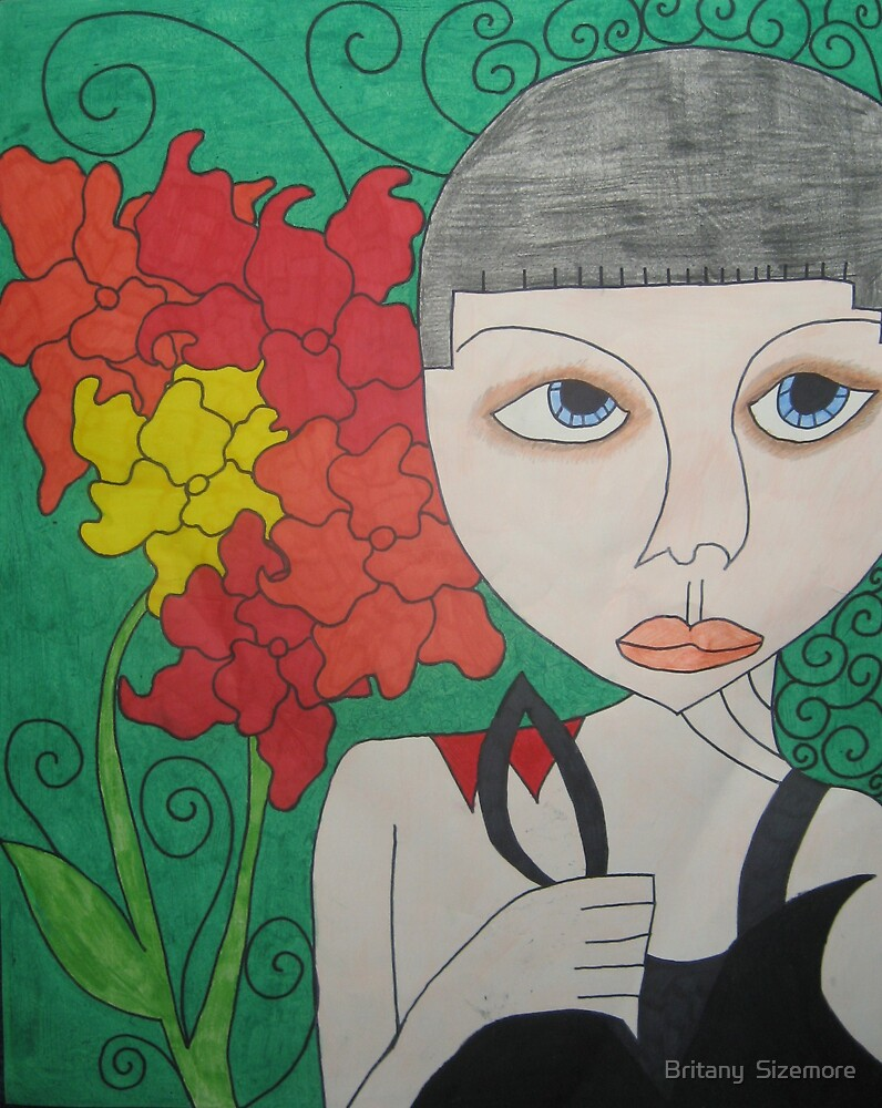 Helmet Head with Flowers by Britany  Sizemore
