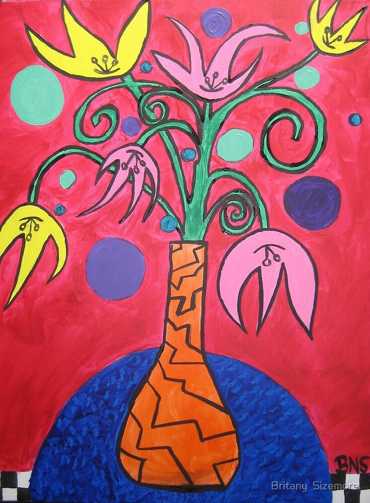 Vase of Flowers 2 by Britany  Sizemore