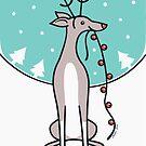 Greyhound Waiting For Santa  by zoel