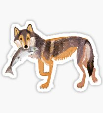 Totem Coastal wolf (Vancouver Wolf) Pegatina