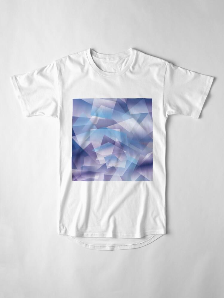 Vista alternativa de Camiseta larga Abstract geometric pattern