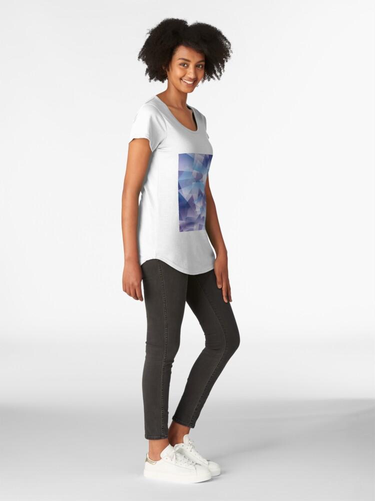 Vista alternativa de Camiseta premium de cuello ancho Abstract geometric pattern
