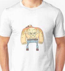 Tattooed Dangerous Criminal Outlined Comics Style Illustration Unisex T-Shirt