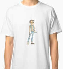 Punk Dangerous Criminal Outlined Comics Style Illustration Classic T-Shirt