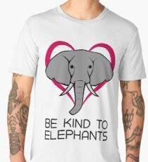 Be Kind To Elephants Shirts: Support Elephant Wildlife  Men's Premium T-Shirt