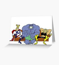 dexter's lab the justice friends Greeting Card