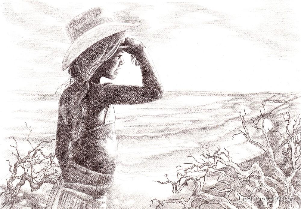 On the beach by Liesl Yvette Wilson