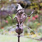 Seedpod Fountain detail by David Goode