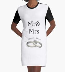 6th anniversary matching Mr. And Mrs. Since 2011 Graphic T-Shirt Dress