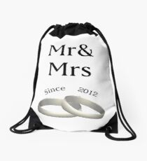 6th anniversary matching Mr. And Mrs. Since 2011 Drawstring Bag