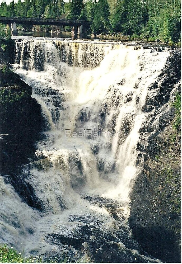 Huge Water falls in Canada called Kakabeka by RealPainter