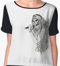 Classic Rock and Roll Music Singer Skeleton Women's Chiffon Top