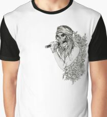 Classic Rock and Roll Music Singer Skeleton Graphic T-Shirt