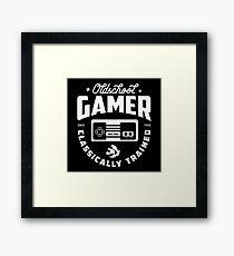 Oldschool Gamer-NES Framed Print