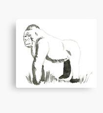 Sumi-E gorilla  Canvas Print